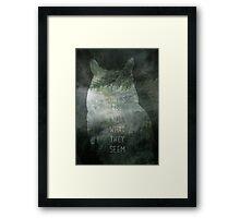 Twin Peaks minmalist movie poster Framed Print