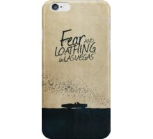 Fear and Loathing in Las Vegas minimalist movie poster iPhone Case/Skin