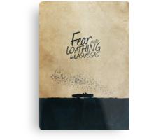 Fear and Loathing in Las Vegas minimalist movie poster Metal Print