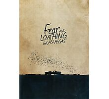 Fear and Loathing in Las Vegas minimalist movie poster Photographic Print