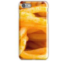 Detailed macro view on cooked spaghetti on a plate iPhone Case/Skin