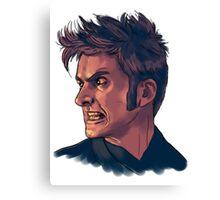 David Tennant - Sketchy Portrait 3 Canvas Print