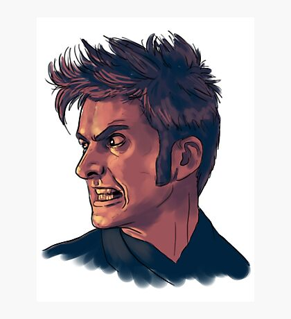 David Tennant - Sketchy Portrait 3 Photographic Print