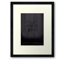 The Exorcist minimalist movie poster Framed Print