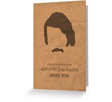 Brian Fantana minimalist poster Greeting Card