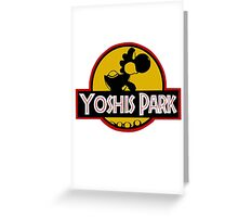 YOSHIS PARK Greeting Card