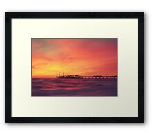 Brighton Pier Sunset Framed Print