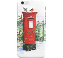 Red Post box in the snow iPhone Case/Skin