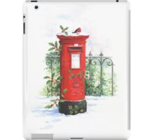 Red Post box in the snow iPad Case/Skin