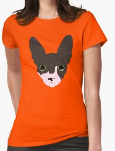 Sphynx With Emerald Eyes Womens Fitted T-Shirt