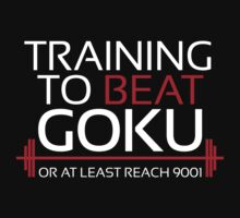 Training to beat Goku - 9001 - White by m4x1mu5