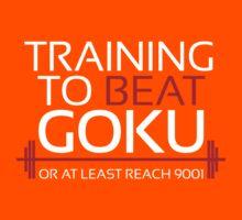 Training to beat Goku - 9001 - White Kids Clothes
