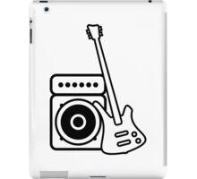Bass guitar with amp iPad Case/Skin