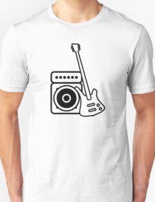 Bass guitar with amp T-Shirt