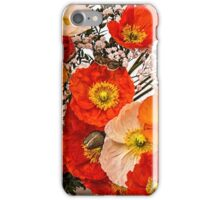 Stunning Vibrant Multi Coloured Poppies Design iPhone Case/Skin