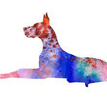 Great Dane 8 by Watercolorsart