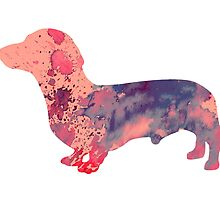 Dachshund 3 by Watercolorsart