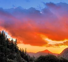 Stunning HDR Sunset by Rosalee Lustig