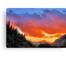 Stunning HDR Sunset Canvas Print