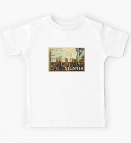 Atlanta Vintage Travel T-shirt Kids Tee