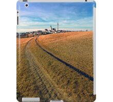 On the way to the village center | landscape photography iPad Case/Skin