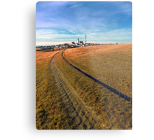 On the way to the village center | landscape photography Metal Print