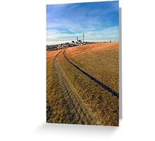 On the way to the village center | landscape photography Greeting Card