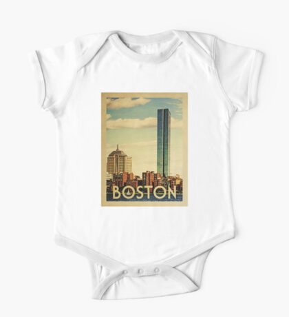 Boston Vintage Travel T-shirt One Piece - Short Sleeve
