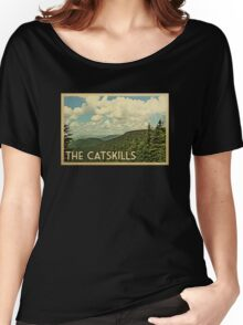 Catskills Vintage Travel T-shirt Women's Relaxed Fit T-Shirt