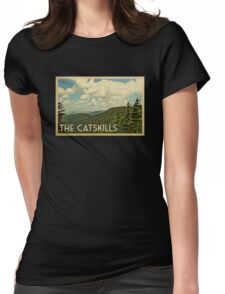 Catskills Vintage Travel T-shirt Womens Fitted T-Shirt