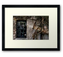 The Haunting of Old Places. Framed Print