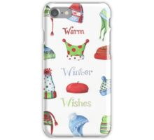 Warm winter hats iPhone Case/Skin