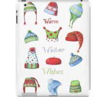 Warm winter hats iPad Case/Skin