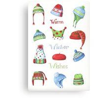Warm winter hats Canvas Print