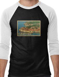 Dubrovnik Vintage Travel T-shirt Men's Baseball ¾ T-Shirt