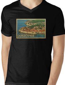 Dubrovnik Vintage Travel T-shirt Mens V-Neck T-Shirt