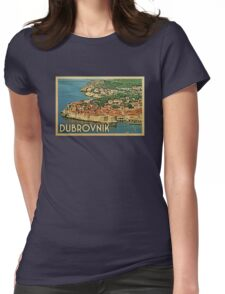 Dubrovnik Vintage Travel T-shirt Womens Fitted T-Shirt