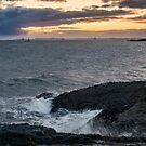 High winds at sunset Elie, Scotland by Cliff Williams
