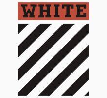 Off-White Orange & Diagonal Stripes One Piece - Short Sleeve