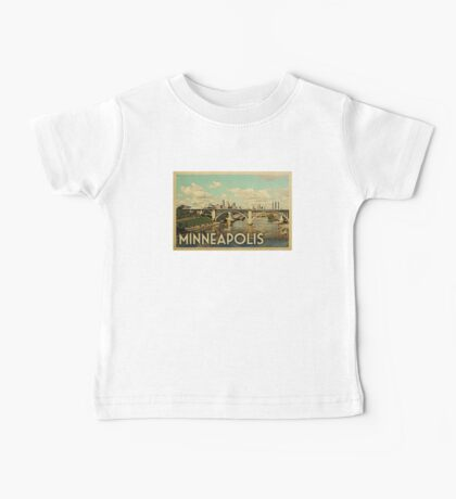 Minneapolis Vintage Travel T-shirt Baby Tee
