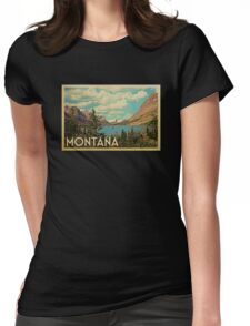 Montana Vintage Travel T-shirt Womens Fitted T-Shirt