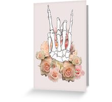 Skeleton hand and Roses Greeting Card
