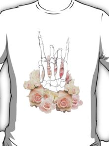 Skeleton hand and Roses T-Shirt