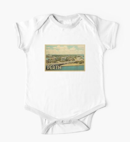 Perth Vintage Travel T-shirt One Piece - Short Sleeve