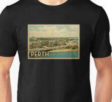 Perth Vintage Travel T-shirt Unisex T-Shirt