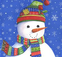 Cute highly detailed snowman by lizblackdowding