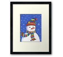 Cute highly detailed snowman Framed Print