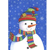 Cute highly detailed snowman Photographic Print