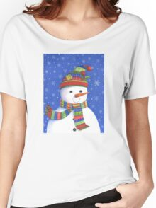 Cute highly detailed snowman Women's Relaxed Fit T-Shirt