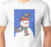 Cute highly detailed snowman Unisex T-Shirt